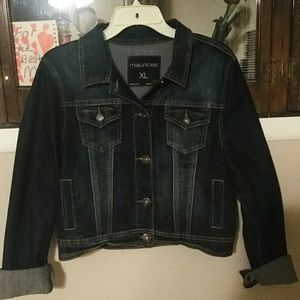 Maurices XL dark wash Denim jacket with stretch. E